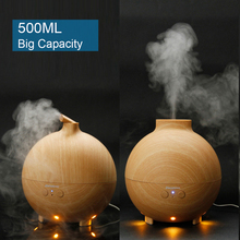Excelvan 500ml Essential Oil Diffuser Aroma Diffuser Ultrasonic Humidifier Mist Maker Aromatherapy Air Purifier Woodgrain EU US(China (Mainland))