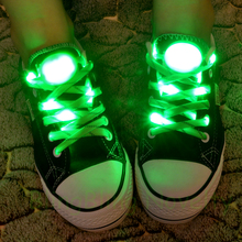 2016 New Style LED Lighting Nylon Laces Flashing LED Shoelace with batteries installed for party/dancing /running