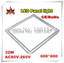 150pcs Free Shipping Square LED Panel light 600x600 mm SMD3014 40W 60x60 ceiling lights Aluminum focus led(China (Mainland))