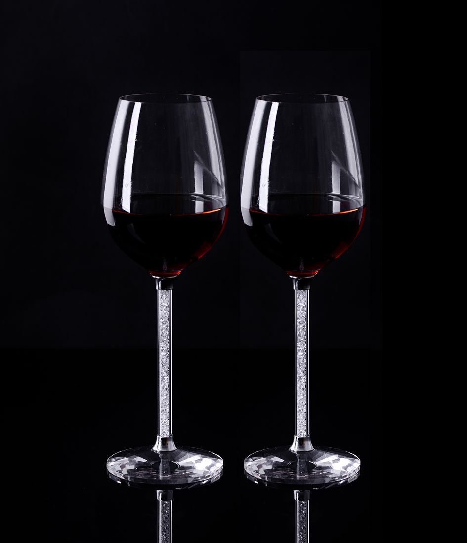 Wedding Party Glass Crystal Champagne Flutes A Pair With