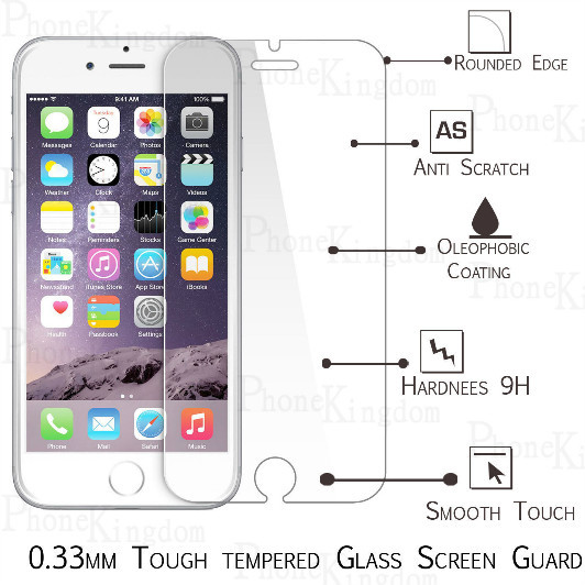 2x For iphone 6 6s Tempered Glass font b Screen b font font b Protector b