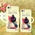 1pcs Minion My fluffy Unicorn Agnes cover hard Skin white Case for iphone 5 5s 4