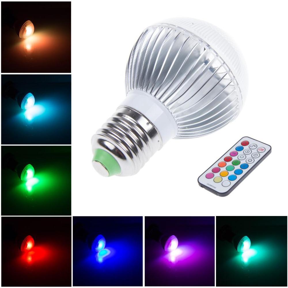 30X Dimmable AC 110V 240V 220V 7W E27 B22 GU10 RGB LED ...