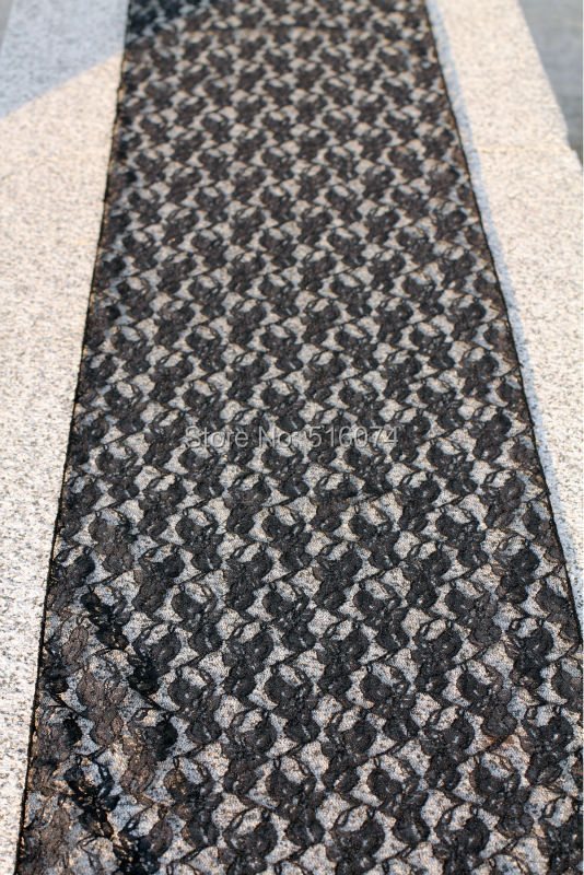 30x275cm Soft Black Lace Wedding Party Home Table Runner Cloth Decorations Free shipping(China (Mainland))