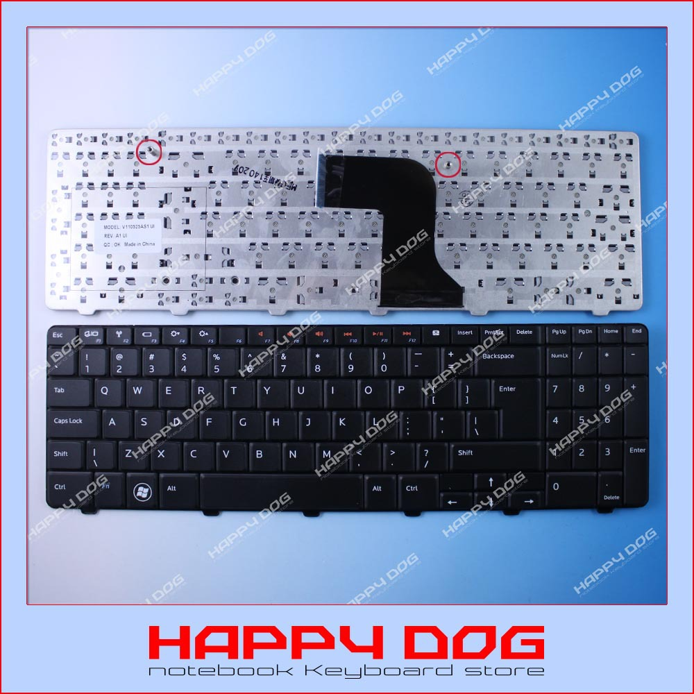 Brand New Black US Laptop Keyboard Dell Inspiron N M 5010 N5010 M5010 15R V110525AS1 UI - Happy Dog store