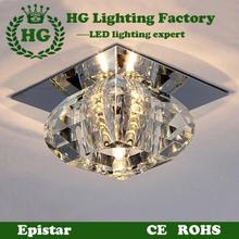 3W LED crystal  ceiling  light ,fit  for living rooms, porches,corridors and balconies. LED creative corridor lamp,(China (Mainland))