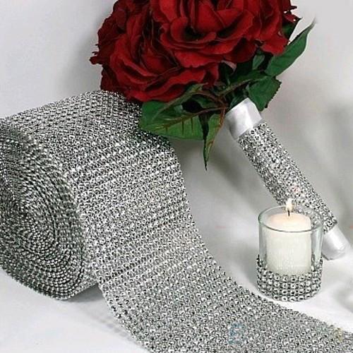 New Cute Lovely 12cm x1 Yard Shiny Alloy Mesh Wrap Sparkle Ribbon Home Party Decor TC0658(China (Mainland))