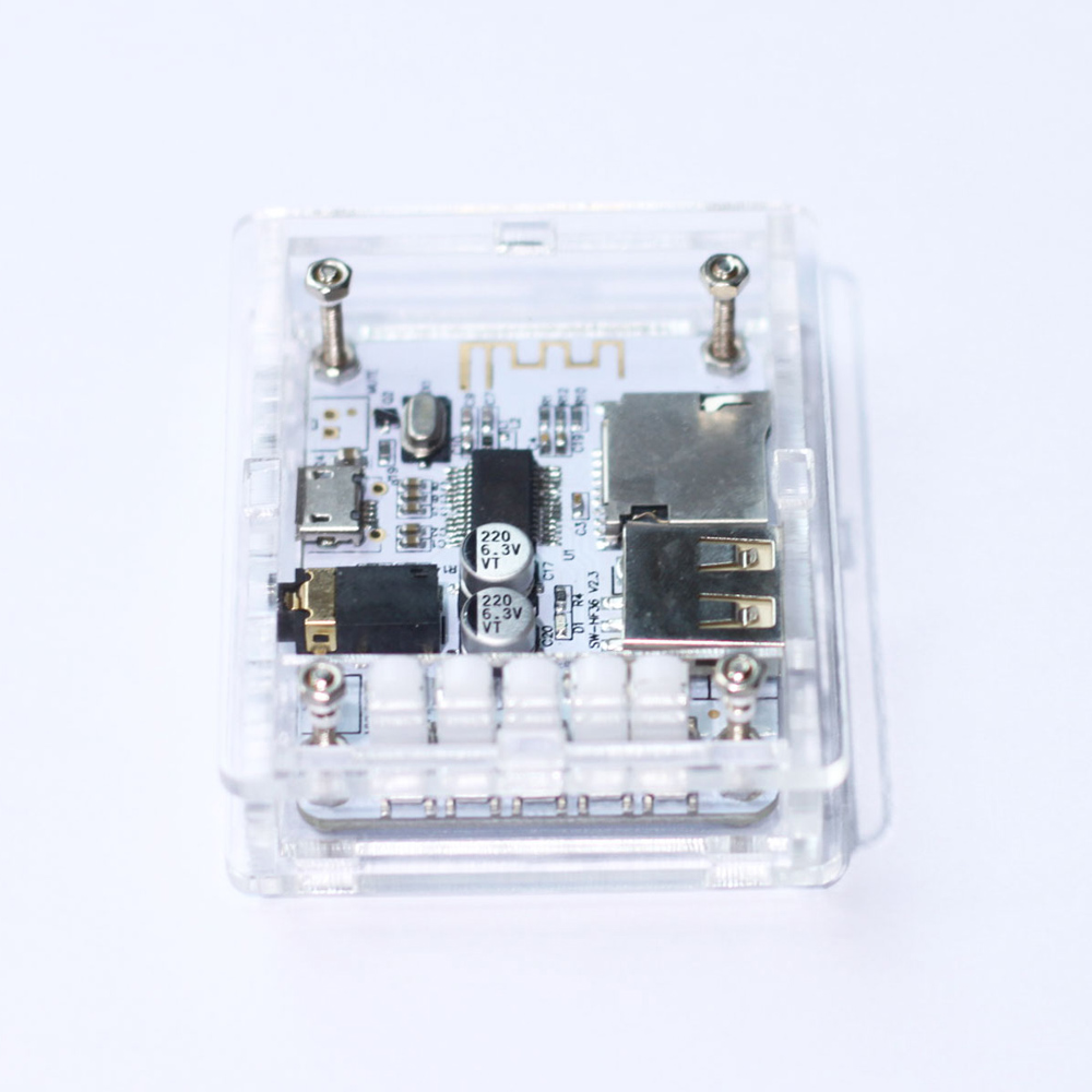 Acrylic DIY Case Cover Shell Wireless Stereo Music Module for USB DC 5V Bluetooth 2.1 Audio Receiver Board with TF Card Slot(China (Mainland))