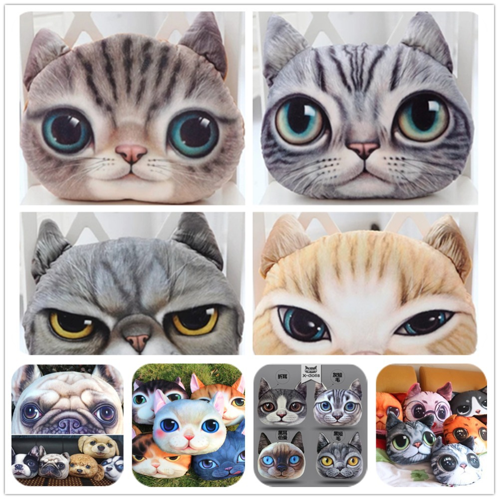 Creative Cartoon pillow Car Cushion Handsome Cat Dog Nap Pillow Cushion and Washable Waist Pillow Cute seat cushion,SKU312A(China (Mainland))