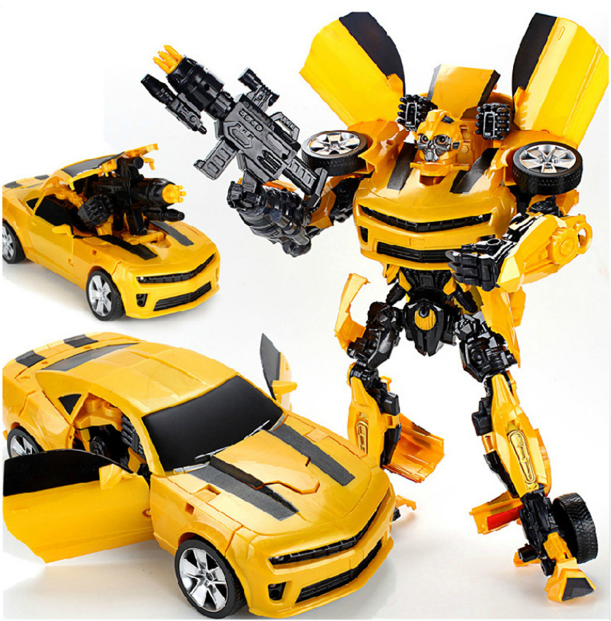 Action Figures Classic Toys for Boys New 2014 Edition 42 CM Bumblebee 35 CM Optimus Prime Transformation Robot(China (Mainland))