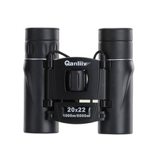Qanliiy 20 x 22 бинокль телескоп мини двойной фокус компактный — размер для наблюдения за птицами дикой природы пейзажи 1000 м / 6000 м новое