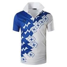 Jeansian Olahraga Tee Kaos Polo Polos Kaos Polo Golf Tenis Badminton Dry Fit Lengan Pendek LSL252(China)