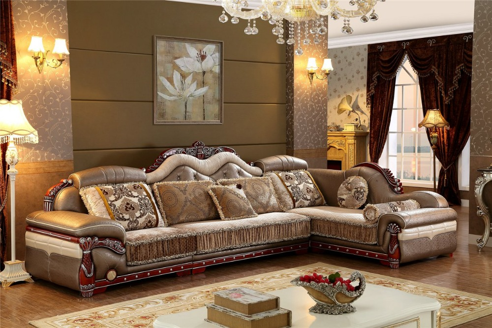 2016 No Chaise Living Room New Arriveliving Antique European Style Set Fabric