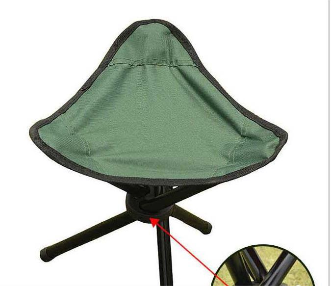 Green Small folding stool three footstool portable outdoor bench in the park(China (Mainland))