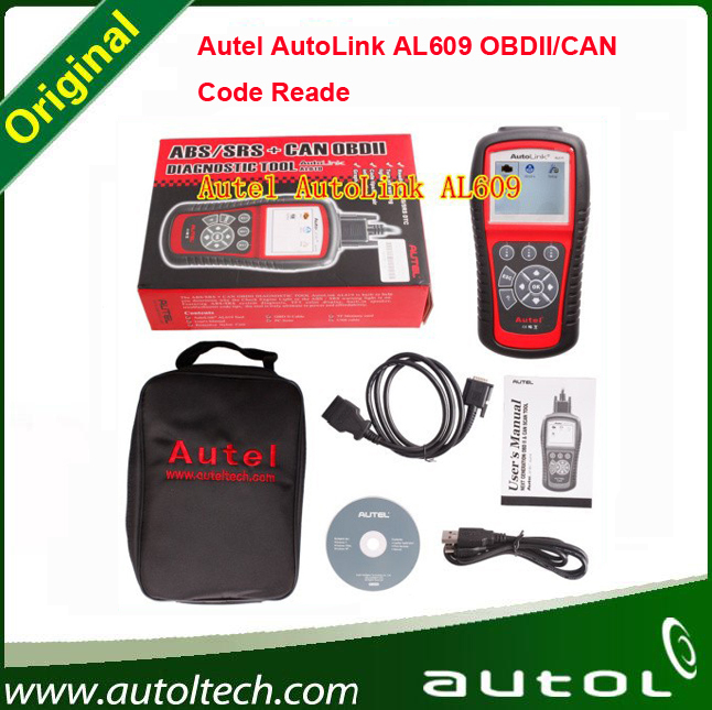 2016 Top-Rated Free Shipping Autel AutoLink AL609 ABS CAN OBDII Diagnostic Tool Diagnoses ABS System Codes Internet Updatable(China (Mainland))