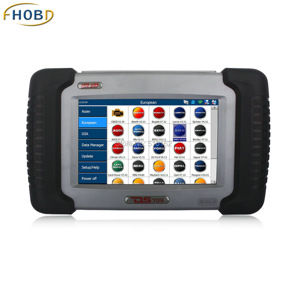 Autel MaxiDAS DS708 Automotive Diagnostic and Analysis System live data ECU programming coverage Asian European US vehicles<br><br>Aliexpress