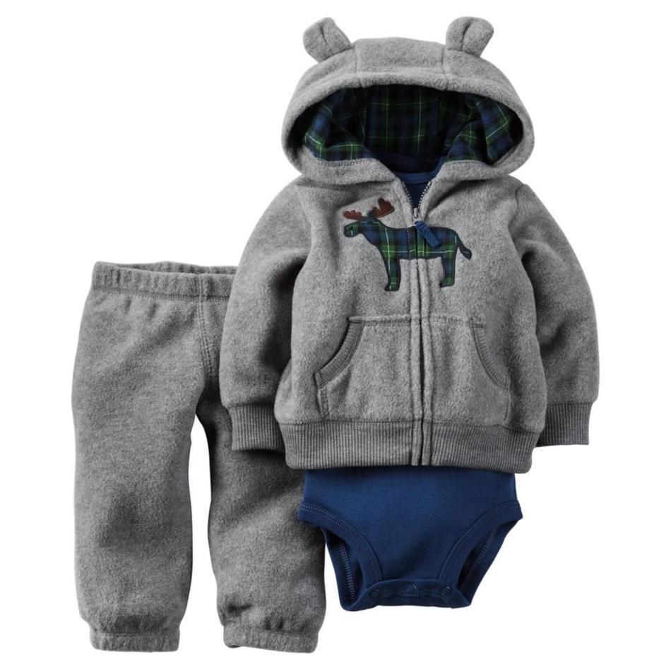 2016 Boy Girl Clothes 3 Piece Of Baby Clothing Set Bebes Winter New Style Snowsuit Abrigos Roupas Coat Carters Newborn(China (Mainland))