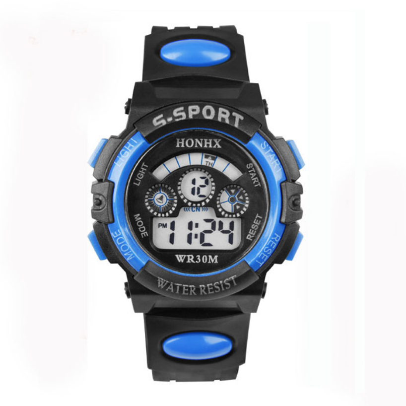 Гаджет  Essential Shock Resistant Dress Watches Waterproof Children Boy Digital LED Quartz Alarm Date Sports Wrist Watch None Часы