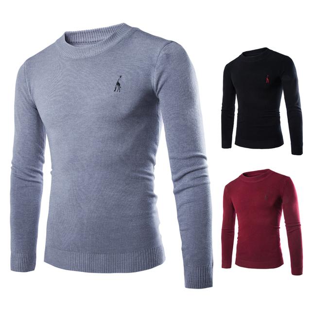 2016 новых осенью и зимой мужской пуловер свитер толщиной трикотаж в виде животных ...