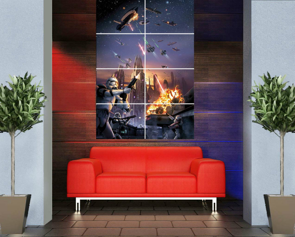 HA08 star wars Game Boy Movie 46x 32 inches 116 x 81 cm decals art giant picture vintage home huge decor photo wall poster print(China (Mainland))