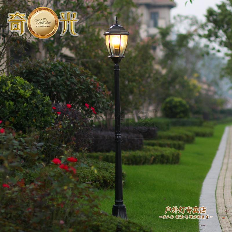 Aluminum black/bronze garden light pole led lighting for garden 180CM height 110-240V lawn lamp outdoor garden decoration(China (Mainland))