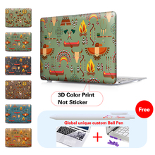 New Tribal Banners Case For Apple Macbook Air Pro Retina 11 12 13 15 laptop bag case For Mac book Air 13 Pro 13 Retina13 15 case