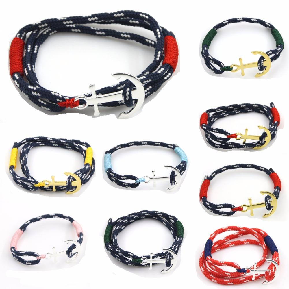 Men Anchor female Bracelets & Bangles Fashion Female handmade Birthday gift hand jewelry Summer Style Friendship Bracelets(China (Mainland))
