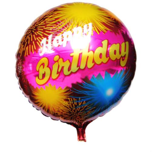 HOT 18inch round foil balloon Fireworks design happy birthday balloon for kids birthday party decoration mylar helium baloons