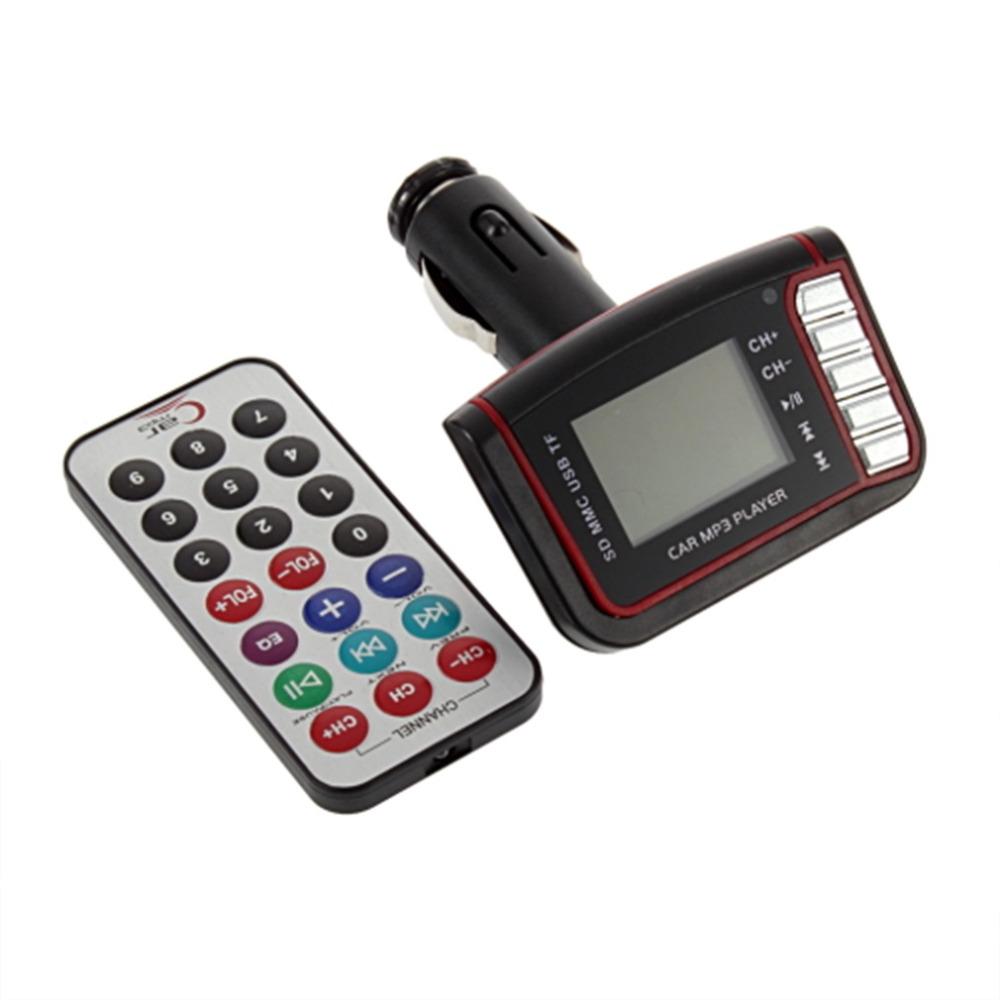 1 pcs 4in1 Car MP3 Player Wireless FM Transmitter Modulator USB CD MMC Remote New(China (Mainland))