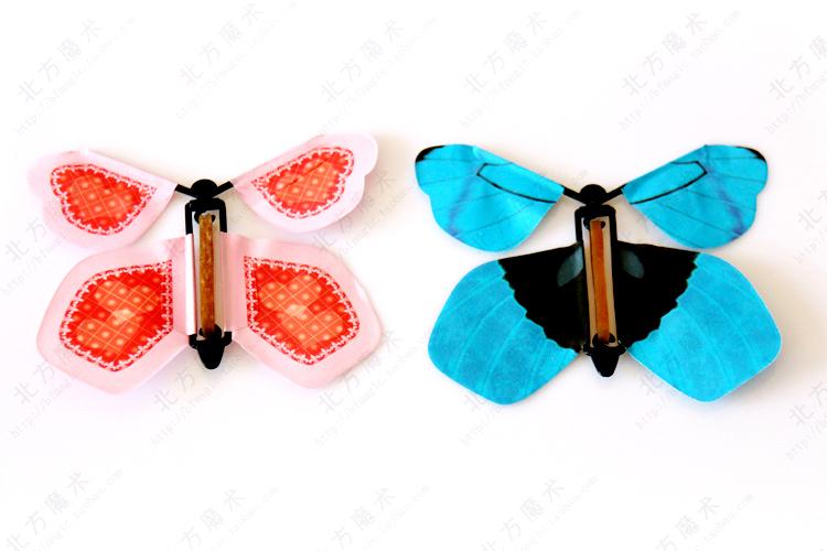 Hot! 8pcs Magic Flyer.11cm.Magic Butterfly.magic trick.magic worm.FreeShiping(China (Mainland))