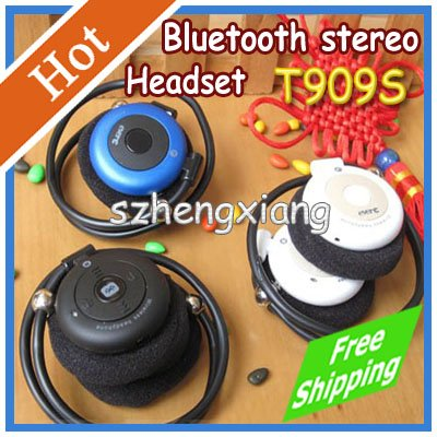 New ever-E T909S Sports Wireless Folded Stereo Bluetooth Headset A2DP Music Mobile Phone White , Blue Black - Shenzhen Hengxiang Technology Co., Ltd store