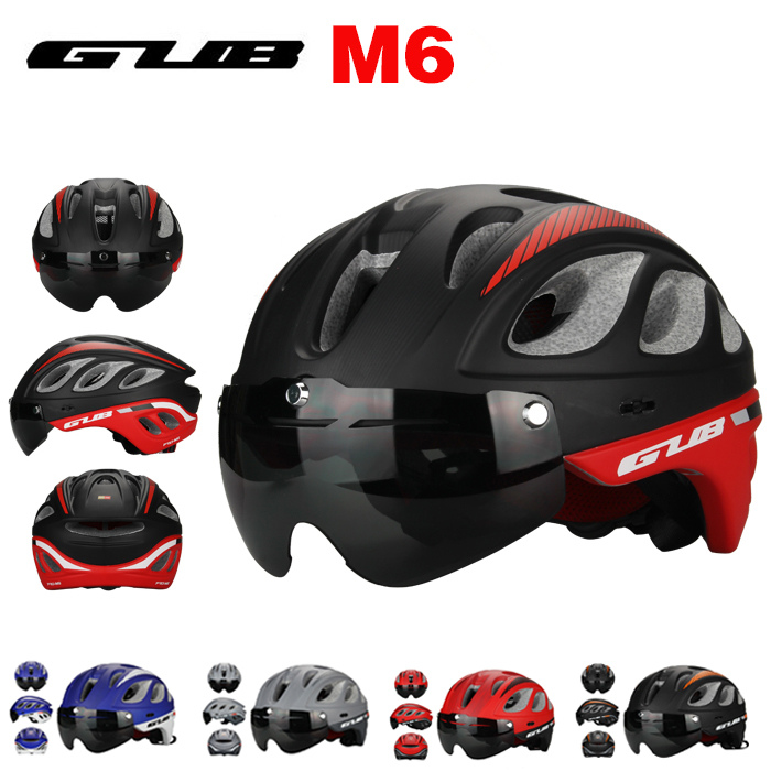 GUB M6 MTB Road TT Racing Bike 20 Air Vents Helmet With Goggles Eyewear Integrally Molded ESP + PC Aero Bicycle Helmets& Glasses(China (Mainland))