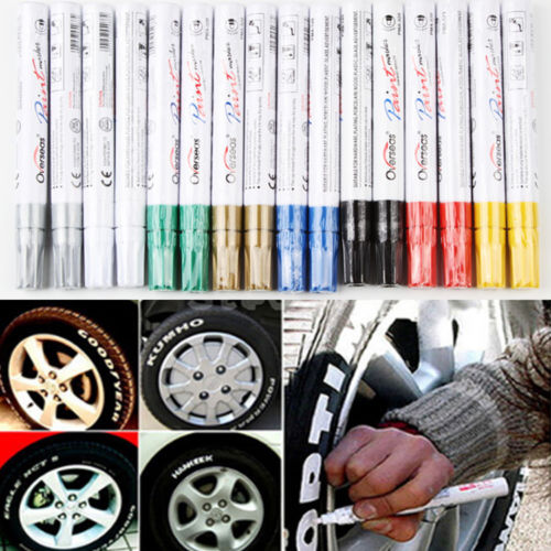 100% brand new and high quality Hot New Permanent Waterproof Black White Gold Silver Color Paint Marker Pen(China (Mainland))