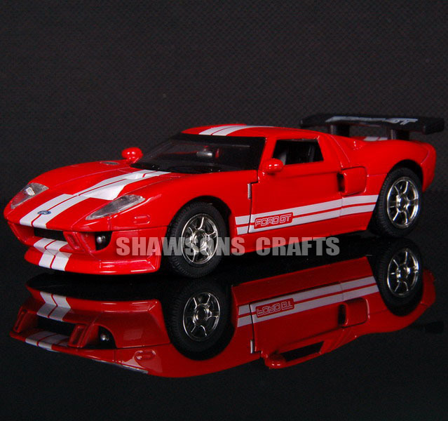 DIECAST METAL 1:32 MODEL CAR TOYS SOUND & LIGHT PULL BACK FORD GT REPLICA(China (Mainland))