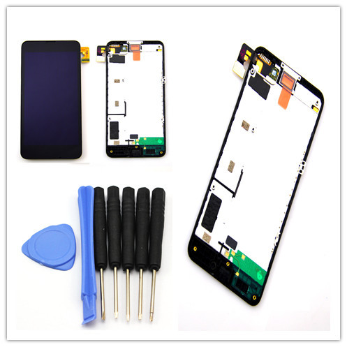 for Nokia Lumia 630 635 Black lcd touch screen digitizer assembly +frame , free shipping!!