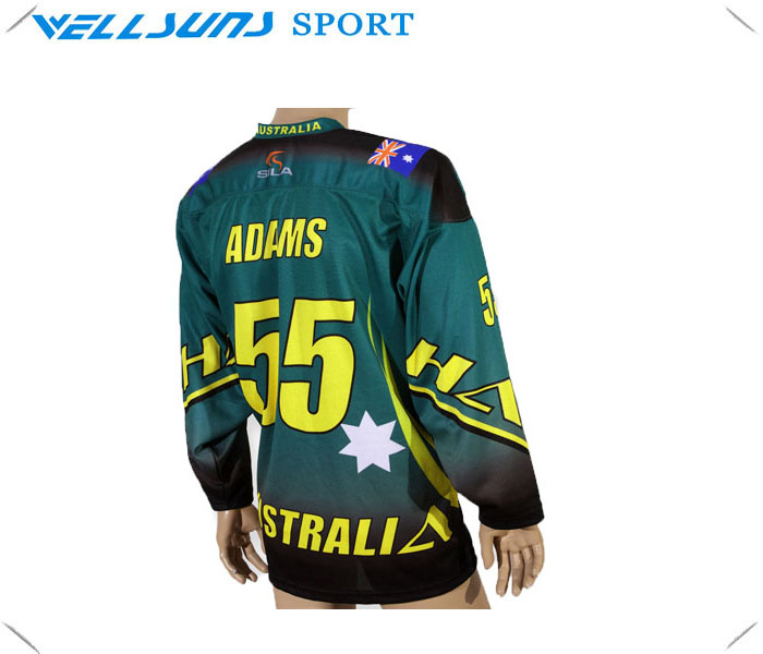 cheap custom team sublimated ice hockey jersey with free design(China (Mainland))