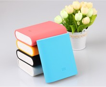 6 Color Xiaomi Soft Silicone Phone Protective Back Cover 10400mah xiaomi Power Bank Case