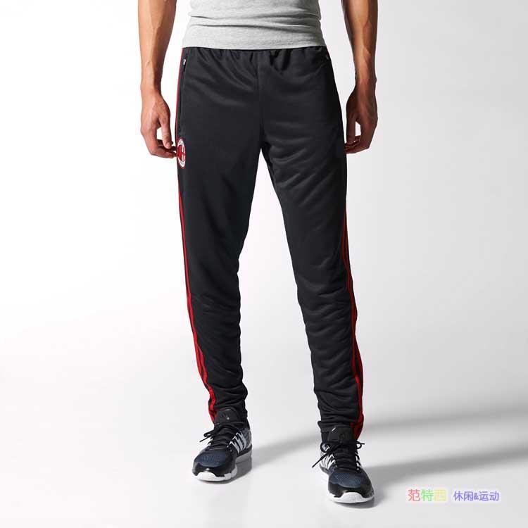 Top A+++ 15-16 Soccer Pants AC Milan Slim Skinny sports Football training running pants tracksuit pants<br><br>Aliexpress