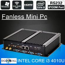 Eglobal Fanless Industrial Mini PC Win10 Core i3 i5 i7 2*Intel 82583V Gigabit NICS 6*RS232 Slim Computer 300M Wifi 2*HDMI TV Box(China (Mainland))