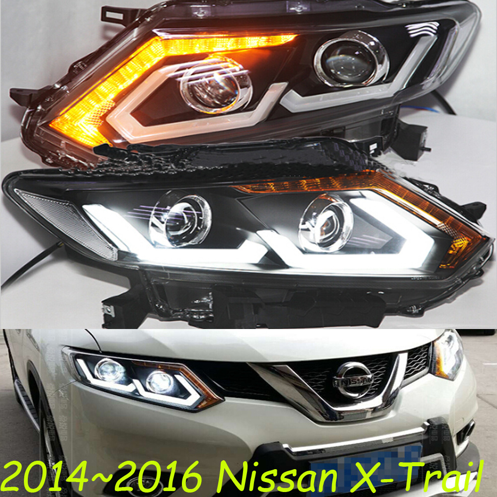 Only need 540USD/SET+Free ship!2014~2016 X-Trail Front headlight,LED Line,2pcs/set(1pcs L+1pcs R),ABS,Excellent item!<br><br>Aliexpress