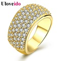 15 Off Uloveido Gold Color Wide Charms Big Rings for Women Luxury Bijoux Ring Female Yellow