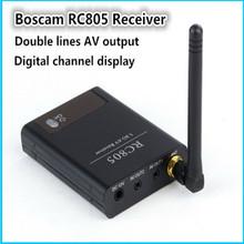 Оригинал Boscam FPV 5.8 ГГц 8 Канала Беспроводной A/V Аудио-Видео Ресивер (RX) RC805 с цифровой дисплей канал для fpv