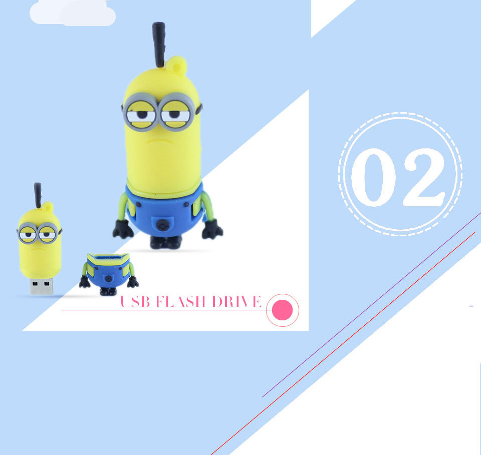 Pen drive Minion USB Flash Drive on hot sale flash card pendriver 2GB 4GB 8GB 16GB
