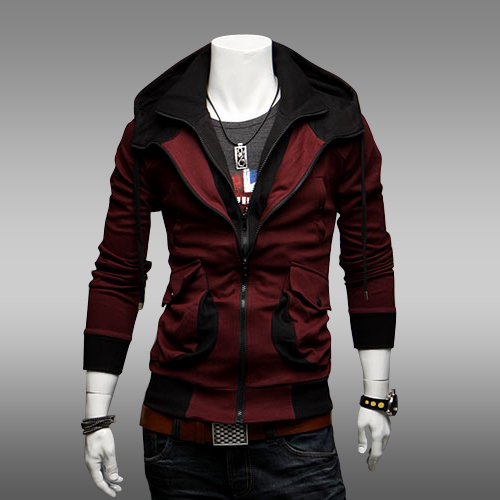 Autumn Mens Jacket Hoodie Fashion Brand Winter Sweatshirts Unique Male Coat Slim Fit Zipper Fly Sports Outerwear Coat M-XXL(China (Mainland))