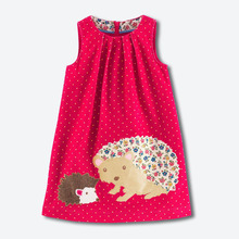England style girls dresses cute animal pattern flannelette children clothing sleeveless vest dress brand kids clothes