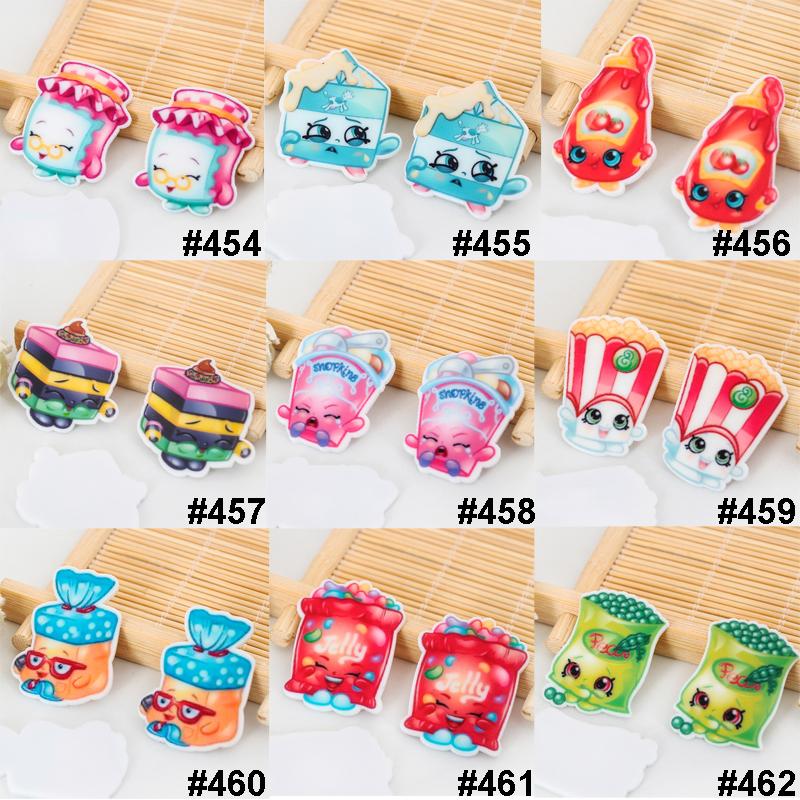 50pcs/lot Mixed Cartoon Shopping Resin Flatbacks Kawaii Food Planar Resin DIY Crafts for Home Decoration Accessories 0319(China (Mainland))