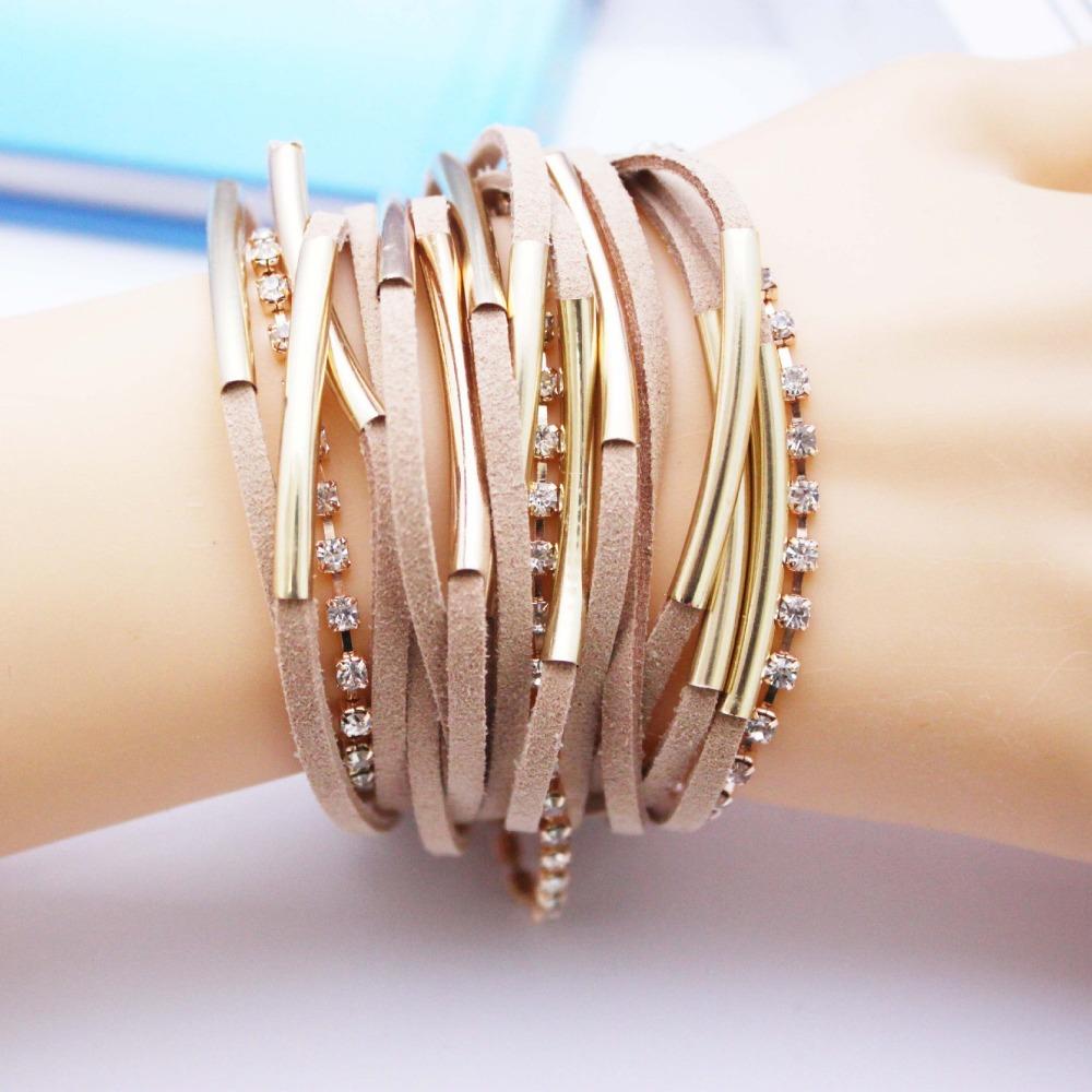 2015 Fashion handmand Silver Tone infinity Charm MIX Colors Bracelet Suede Leather Bracelet ,Bracelet Best Gift(China (Mainland))