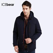 ICEbear 2016 Шляпа Съемный Био-вниз-Группа Одежда Толщиной Теплая Зима Куртка Мужчины Стоять Воротник Пальто Большой Размер 16M633D(China (Mainland))