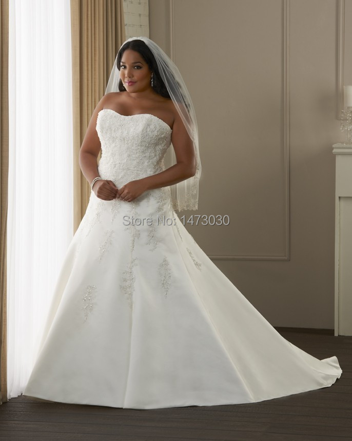 Custom made sweetheart off the shoulder lace up back plus for Wedding dresses for big women