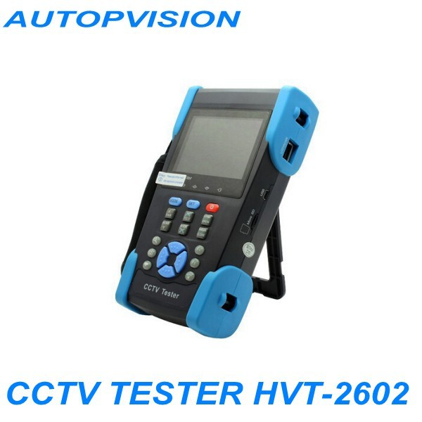 """Free Shipping!! The newest 3.5"""" TFT-LCD CCTV tester HVT-2602 PTZ controller/Colorbar generator /UTP cable test(China (Mainland))"""